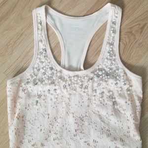 Express Lace Top with Pearl's and Beads